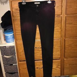 Low rise black Hollister skinny jeans